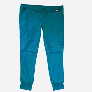 NWT Aviator Nation Men's Moto Sweatpants Neon Blue